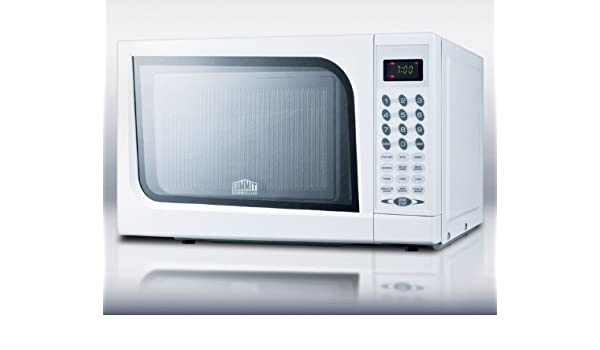 Amazon Com Summit Sm901wh Mid Sized Microwave Oven With A
