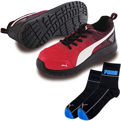 PUMA(プーマ) 安全靴 マラソン 24.5cm レッド ジャパンモデル PUMA ソックス 靴下付セット 64.336.0  B07QM4YWBY
