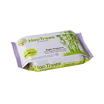 Image of NooTrees Age Impact Anti-Aging Wipes with Eco-Dot Technology, 25 Sheets Facial Tissues