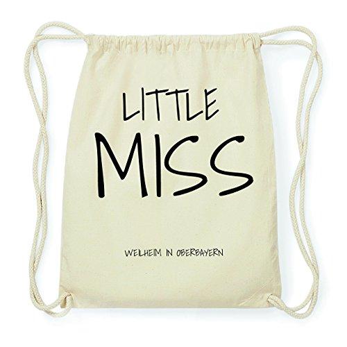 JOllify WEILHEIM IN OBERBAYERN Hipster Turnbeutel Tasche Rucksack aus Baumwolle - Farbe: natur Design: Little Miss