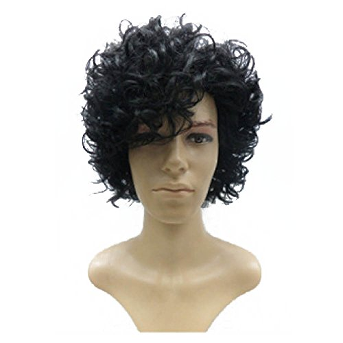 (Prince Wig | Black Curly Wig for Prince, Purple Rain Costume, Men, Women,)