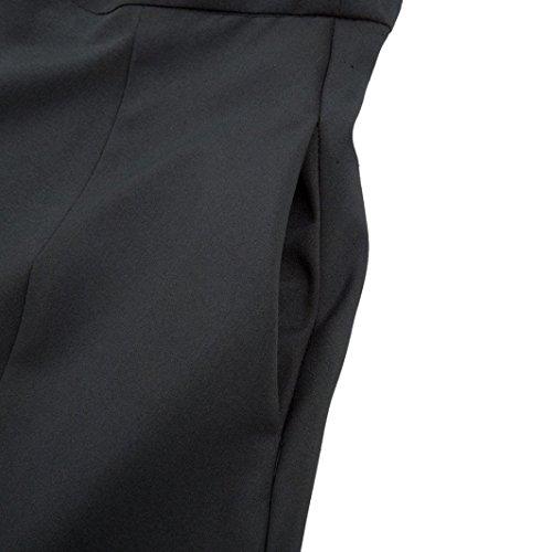 Jupe Jupe avec Plisss Midi Longueur Jupons de Vintage Femme A Poches Noir Longue Covermason Vintage Latrales Jupons Ceinture Haute Line Longue Fille la Cheville Elastique Taille fwxBUOq0X