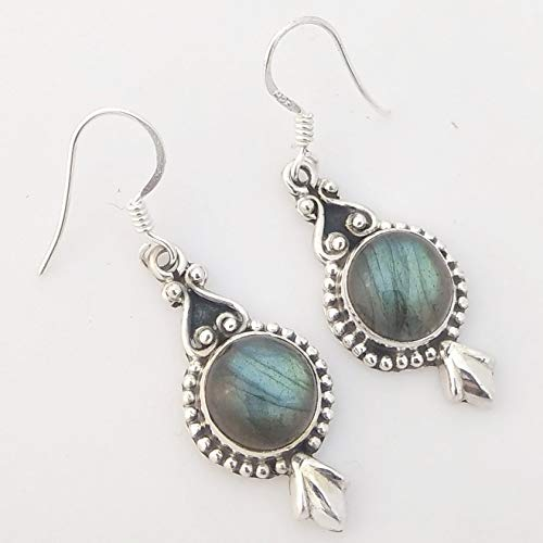 Handmade Earrings for Women, Sterling Silver Earrings Handmade Labradorite/Smoky Quartz/Amethyst/ Lapis/Prehnite/ Turquoise/Golden Quartz/Mother of -