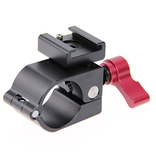 CAMVATE Light Mount Stand Bracket 25mm Rod Clamp Holder For DJI Ronin-M, Freefly MoVI - Red Knob by CAMVATE