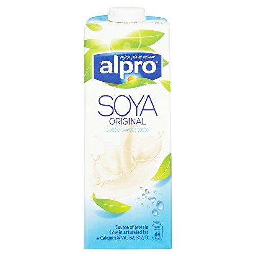 Alpro soja Lácteos original Longlife Leche Alternativa 1L (Pack de 1ltr)