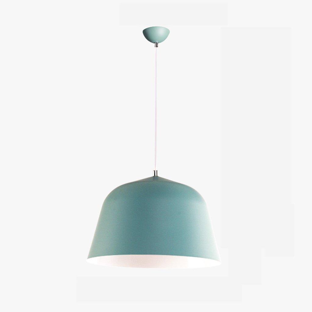 Post-modern minimalist color aluminum chandelier restaurant bar A+ ( Color : Green , Size : S )