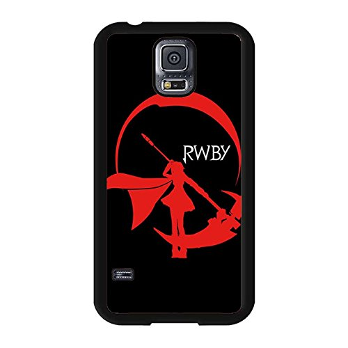Samsung Galaxy S5 I9600 Phone Case RWBY Red Ruby Symbol Black Solid Cover