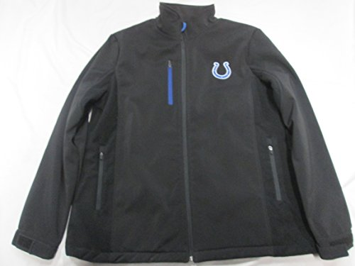 Indianapolis Colts Womens XL 3層ソフトシェルBonded Water Resistant Full Zip Jacket WithフリースAcol 17 XL