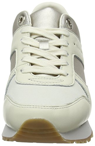 Donna Bianco Basse Sneaker da Whisper Scarpe Hilfiger Wedge White Ginnastica Tommy 121 8qxBZwC