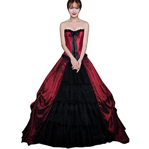 Victorian Red Dress - 1