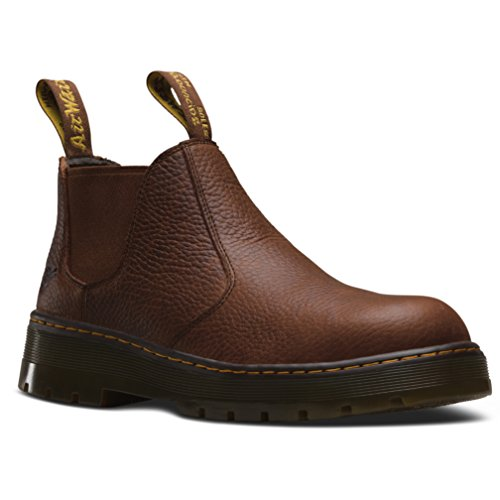 Dr. Martens Men's Rivet Steel Toe Chelsea Boot,Teak Pitstop Leather,UK 7 M