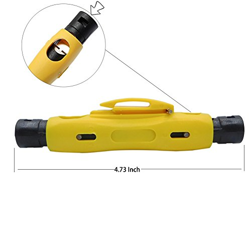 RG6 RG11 Coax Stripping Tool - Coaxial Cable Stripper Tool for RG7/11 and RG59/6 or RG6 Quad Cables by ESYLink (Image #1)