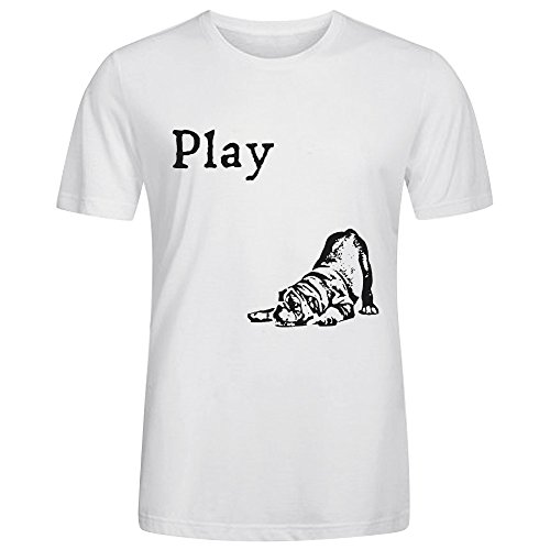 bulldog-play-mens-crewneck-t-shirts-white