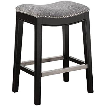 Amazon Com Renate Grey Upholstered 30 Inch Tall Bar