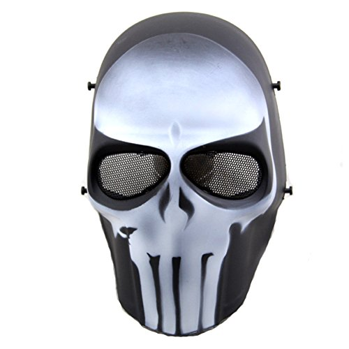 ATAIRSOFT Airsoft Mask Full Face Paintball Hockey BB Protective Mesh Mask -