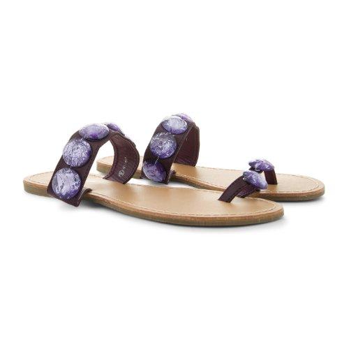 Footwear Sensation - Sandalias de vestir de sintético para mujer púrpura - morado