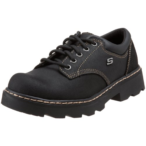 Skechers Women's Parties-Mate Oxford,Black Suede Leather,6 M US by Skechers