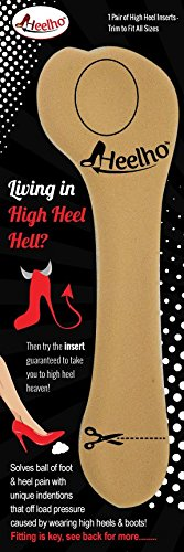 Living in High Heel Hell? Our Patented Inserts Offload Pressure Pain Like No Other High Heel Inserts With a Ball of Foot Depression That When Placed Correctly Puts You in High Heel Heaven