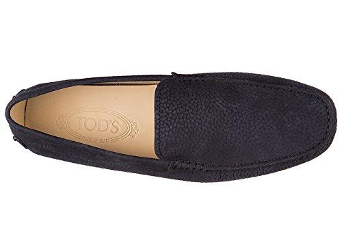 Tod's mocasines en piel hombres nuevo pantofola new gommini 122 blu