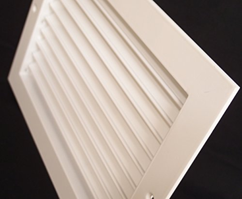 14''w X 10''h Aluminum Adjustable Return/Suuply HVAC Air Grille - Full Control Horizontal Airflow Direction - Vent Duct Cover - Single Deflection [Outer Dimensions: 15.85''w X 11.85''h] by HVAC Premium (Image #4)