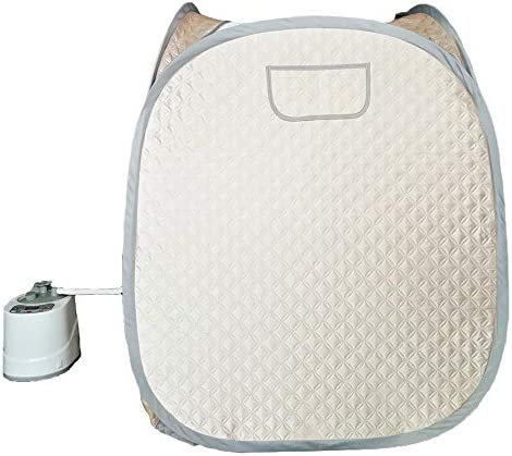 Smartmak Portable Steam Sauna, one Person Full Body Spa Tent at Home for Detox Weight Loss, 2L Steamer with Romote Control- Champagne