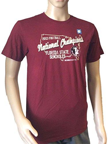 Florida State Seminoles Retro Brand 2013 BCS National Champs Maroon T-Shirt (M)