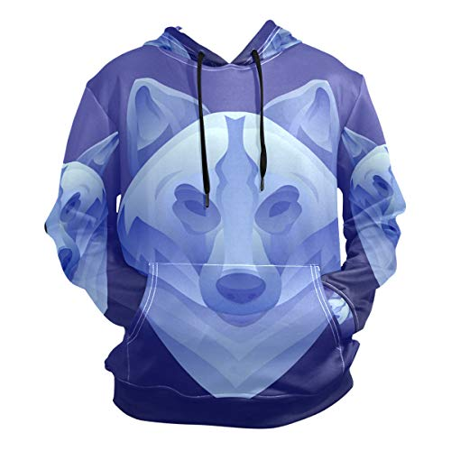 Big Bad Wolf Costume Unisex 3D Novelty Hoodie Hooded Sweatshirt Pocket Cool Sweatshirt Casual -