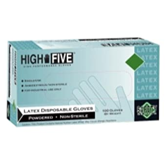 X-Large High Five L564 Powder Free Industrial Latex Gloves