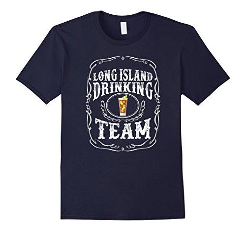 Mens Long Island Iced Tea Drinking Team Alcoholic Mixed T Shirt Medium Navy