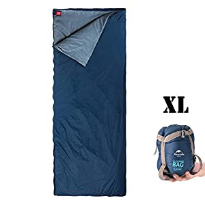 ieGeek Sleeping Bag, Lightweight Envelope Sleeping Bags with Compression Sack Portable Waterproof for 3 Season Travel Camping Hiking Backpacking Outdoor Activities,Ultra-Large for Kid/Adults (Blue)
