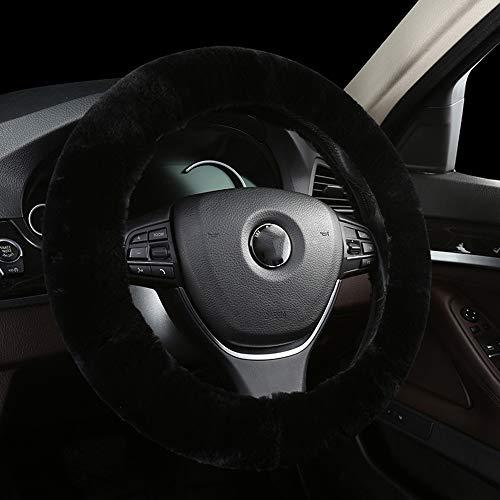 U&M Car Stretch-On Steering Wheel Cover Australian Natural Sheepskin