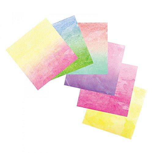 Sizzix Watercolor Wash Adhesive Sheets - 663040 Assorted (12 Sheets) 6