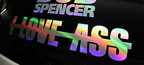 I Love Ass 60 Cm Oil Slick Sticker Auto Porno Hologram Aufkleber Stance Static Dub Auto
