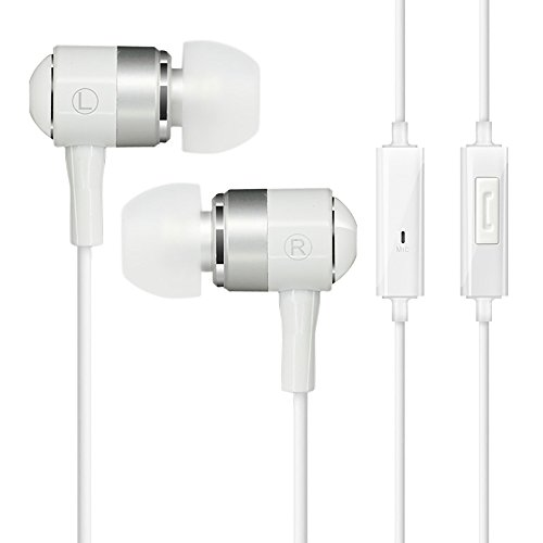 COWIN HE1 In-ear Earbuds Noise Isolating Headphones, Waterproof Sweatproof Earbuds for Gym Running with Mic HD Dynamic Crystal Clear Sound, Ergonomic Comfort-Fit and 100% Compatibilty - White
