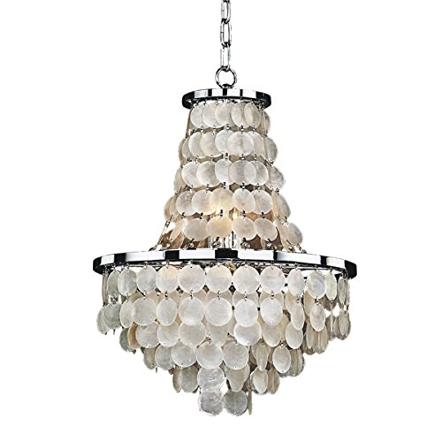 - Glow Lighting 636CD16SP Vista Crystal Flush Mount, 6