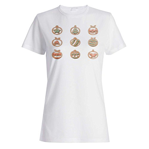 GLÜCKLICHE FROHE WEIHNACHTEN XMAS LUSTIGE NEUHEIT Damen T-shirt l21f
