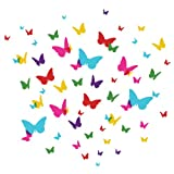 WallCandy Arts Flutterflies 2, Multi