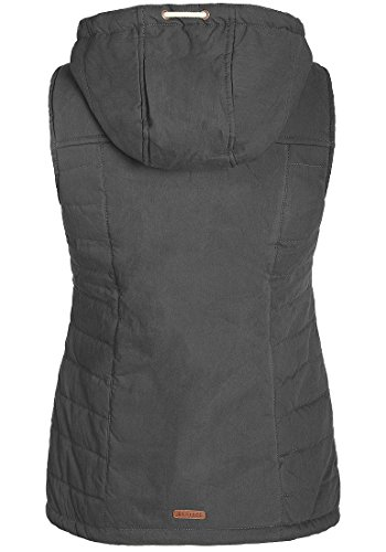 Gilet Quilted Women's Hood Grey Warmer Body Vest Desires Lewy Dark 2890 Et1nqx