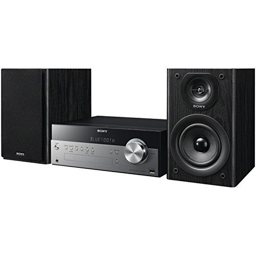 Bass Reflex Center Speaker - Sony CMTSBT100 Micro Music System with Bluetooth and NFC
