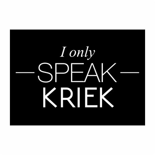 teeburon-i-only-speak-kriek-pack-of-4-stickers