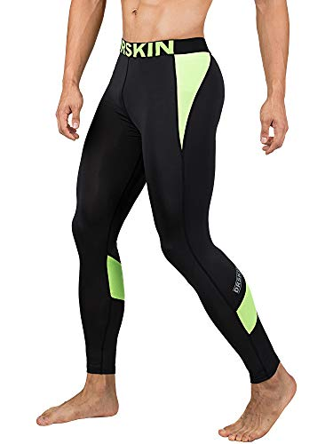 DRSKIN Men's Compression Dry Cool Sports Tights Pants Baselayer Running Leggings Yoga (Came B-LG04, M)