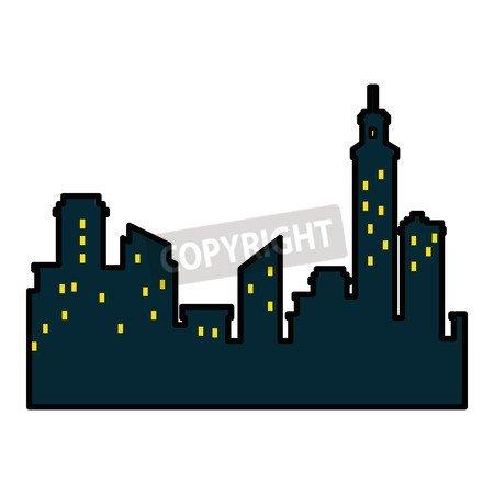 isolated City View Icon Vector Ilustración Graphic Diseño ...