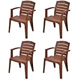 @home by Nilkamal Passion Garden Set of 4 Chair (Mango Wood)