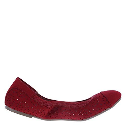 dexflex Comfort Damen Claire Scrunch Flat Roter Wildleder Chopout