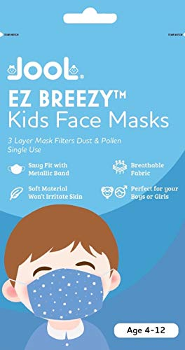 EZ Breezy Kids Face Masks - Perfect Size for Children - Jool Baby (Blue, 25)