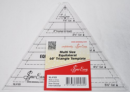 Sew Easy Multi Size Equilateral 60 Degree Triangle Quilt Tem
