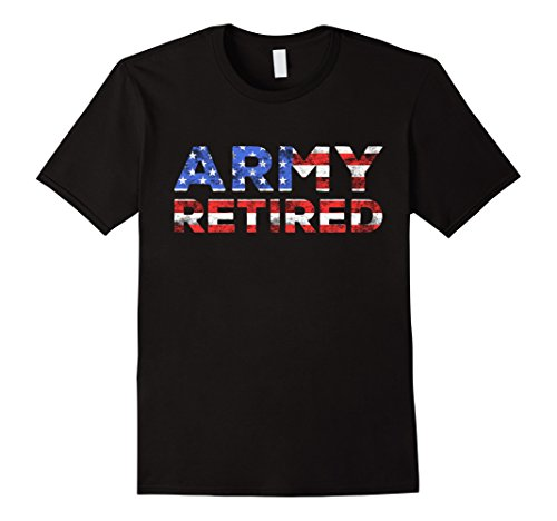 Mens Army Retired T-Shirt Military U.S. Army Retirement Gift Large Black