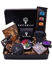 Guitar Lab Gitaar Accessoires geschenkdoos | Gitaar picks tin, Gitaar riem, Capo, Elektronische tuner | Perfect voor gitaar liefhebbers geschenken, Kerstmis, Verjaardagen