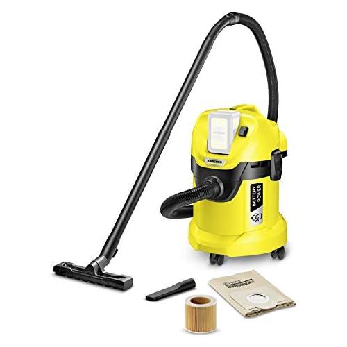 chollos oferta descuentos barato Kärcher Aspirador Multiuso WD 3 Sin batería Y con Control de Encendido 17 litros Plástico Negro Amarillo Model Nuevo
