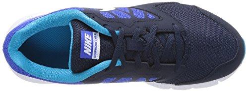 Nike Kids Downshifter 6 (gs / Ps) Hardloopschoenen Lyon Blauw / Wit / Obsidiaan / Blauwe Lagune
